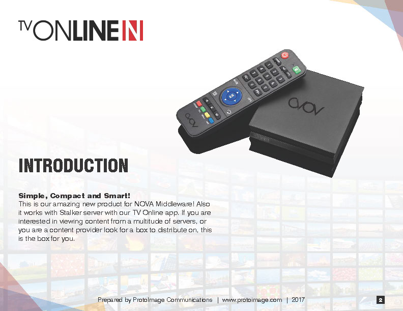TV Online N User Guide now Available | ProtoImage